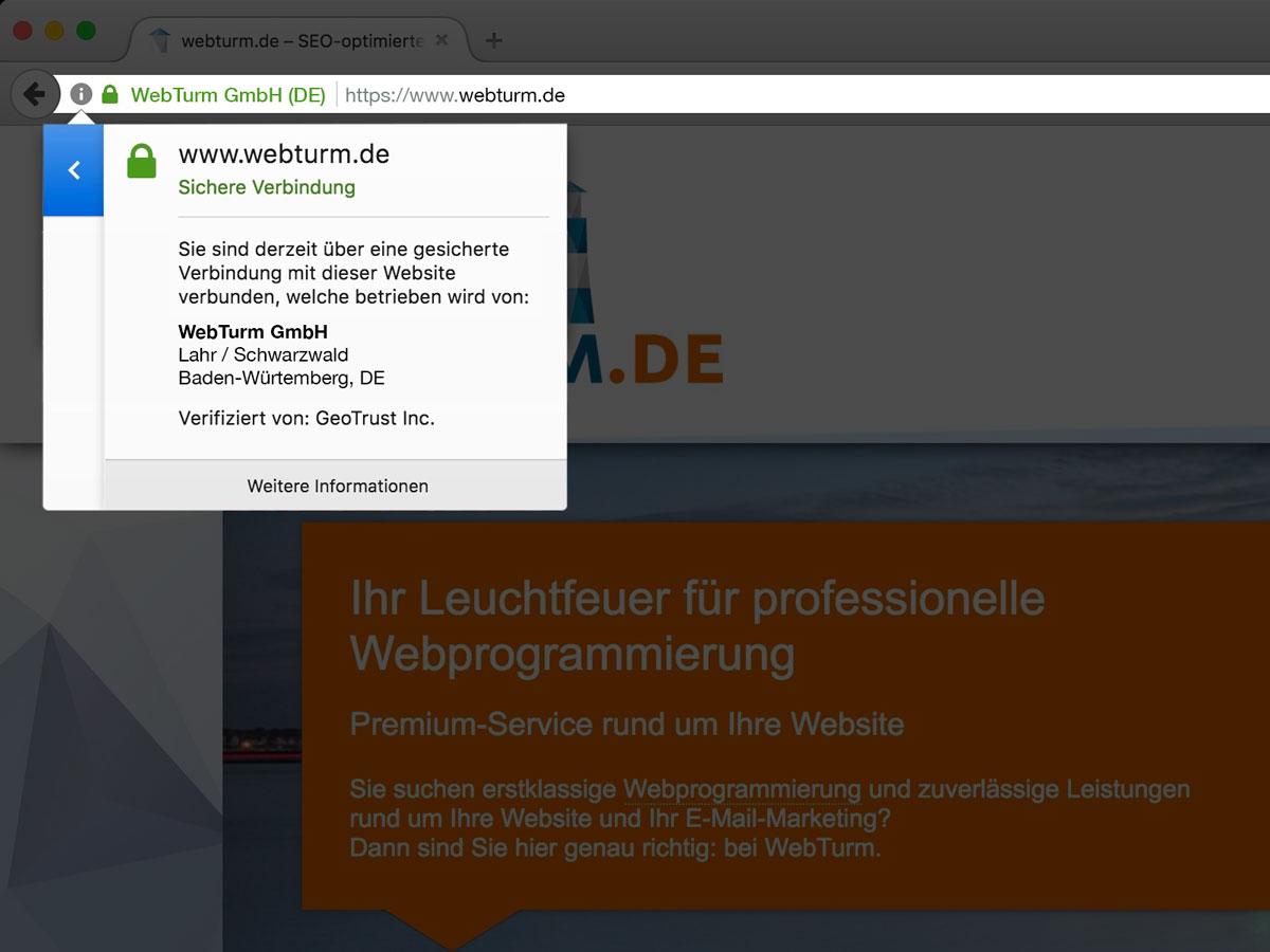 Ssl Zertifikate Webturm Gmbh